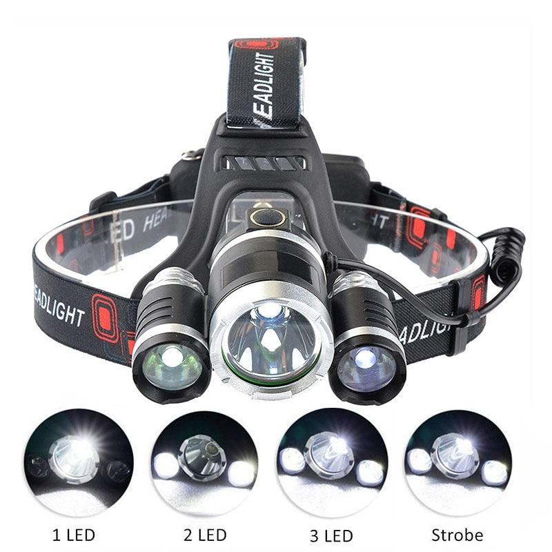 Panyue Super Bright Rj3000 3t6 Led Headlamp 5000lm Led