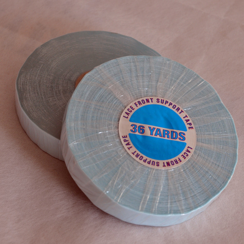 1.27cm(1/2inch)*36Yards Lace Front Support Tape Blue Double Sided Adhesives Tape For Hair Extension/Toupee Adhesive Wig Tape