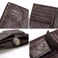 Genuine Leather Wallet Men Passport Holder Coin Purse