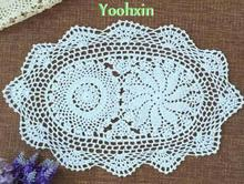 NEW Cotton Crochet handmade tablecloth transparent placemat round lace garden tea Nappe Table cloth towel Cover wedding decor