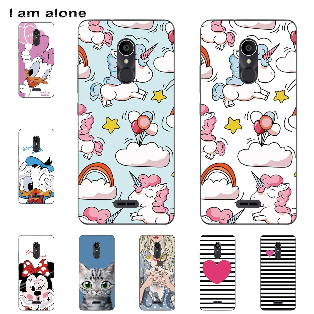 I Am Alone Phone Shell For Alcatel 3C 3C Dual 5026D 6.0 Inch Solf TPU Fashion Cute Color Paint Mobile Case