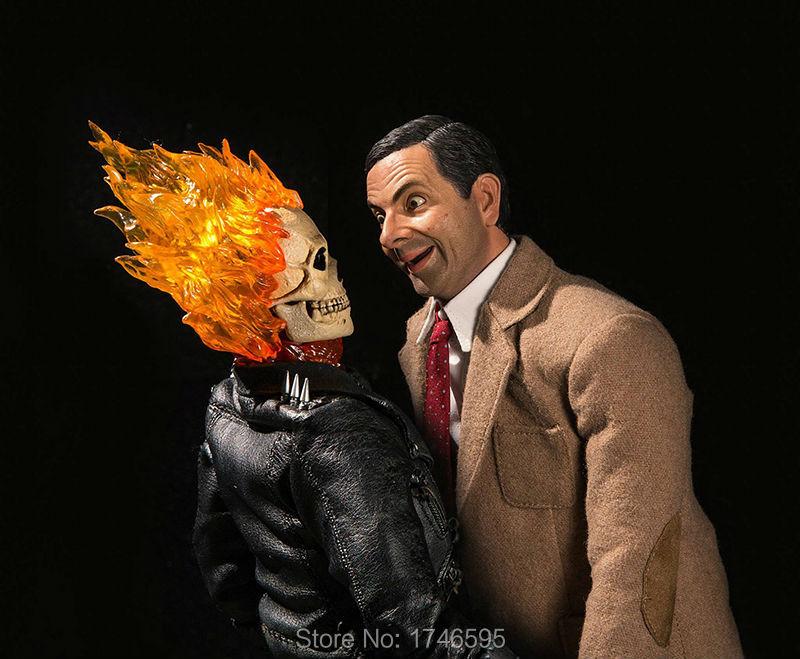 Modern Art Super Heroes Movie Mr Bean Ghost Rider Funny Poster