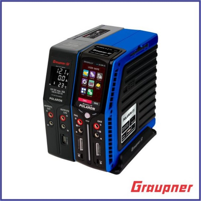 Graupner Polaron EX Combo 7S 3 Color and Touch TFT (Blue) TFT LCD touch display for programming charger автоматическая кормушка feed ex pf7b blue для животных