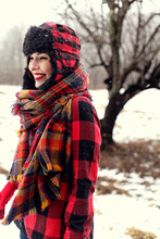 Fashion Lady Women Blanket Oversized Tartan Scarf Wrap Shawl Plaid Cozy Checked Pashmina Hot