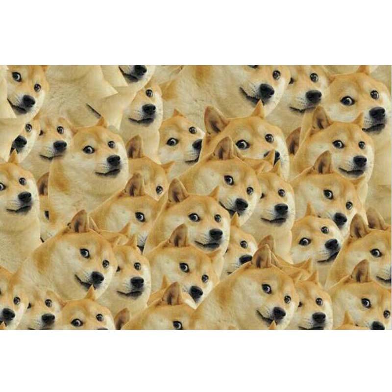 Doge dieu ennuyeux chien puzzle 1000 pièces de bois de adulte maladie cardiaque mentale enterrement spree pollution erhu oeufs