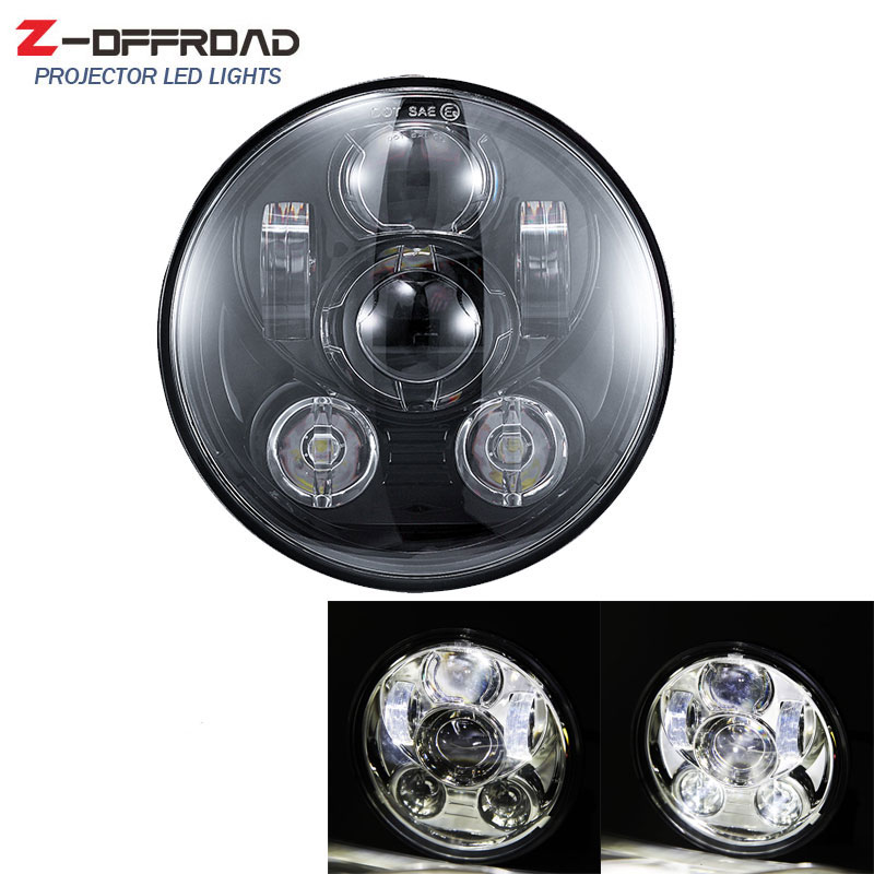 5-3/4 Inch Projector LED Headlight With White DRL For <font><b>Street</b></font> 500 <font><b>XG750</b></font> Iron XL883 Sportster 72 1200 5.75