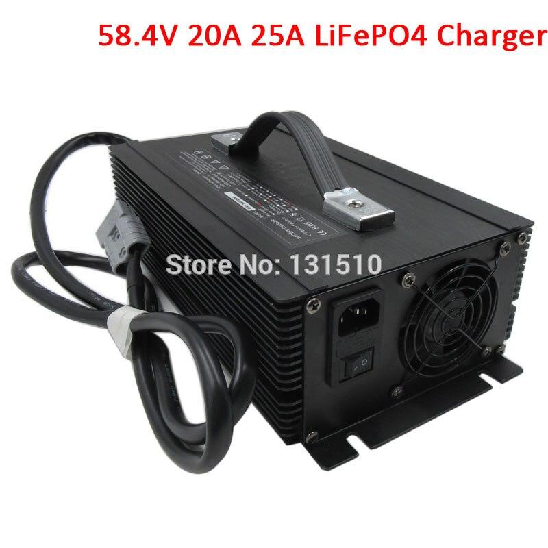 1500W 48V 20A LiFePO4 chargeur de batterie 58.4V 20A/58.4 V 25A utilisé pour 48V 16S LiFePO4 RV EV batterie pack DHL livraison gratuite