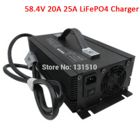 1500W 48V 20A LiFePO4 Battery Charger 58.4V 20A 25A Charger Used for 48V 16S LiFePO4 RV EV power battery pack DHL Free shipping