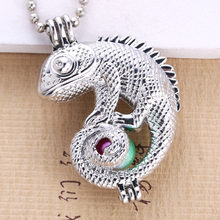 6pcs Bright Silver chameleon Pearl Cage (China)