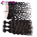 7A Brazilian Natural Wave Ear To Ear Full Lace Frontal Closure With Bundles 3 Bundles With Closure Brazilian Curly Virgin Hair