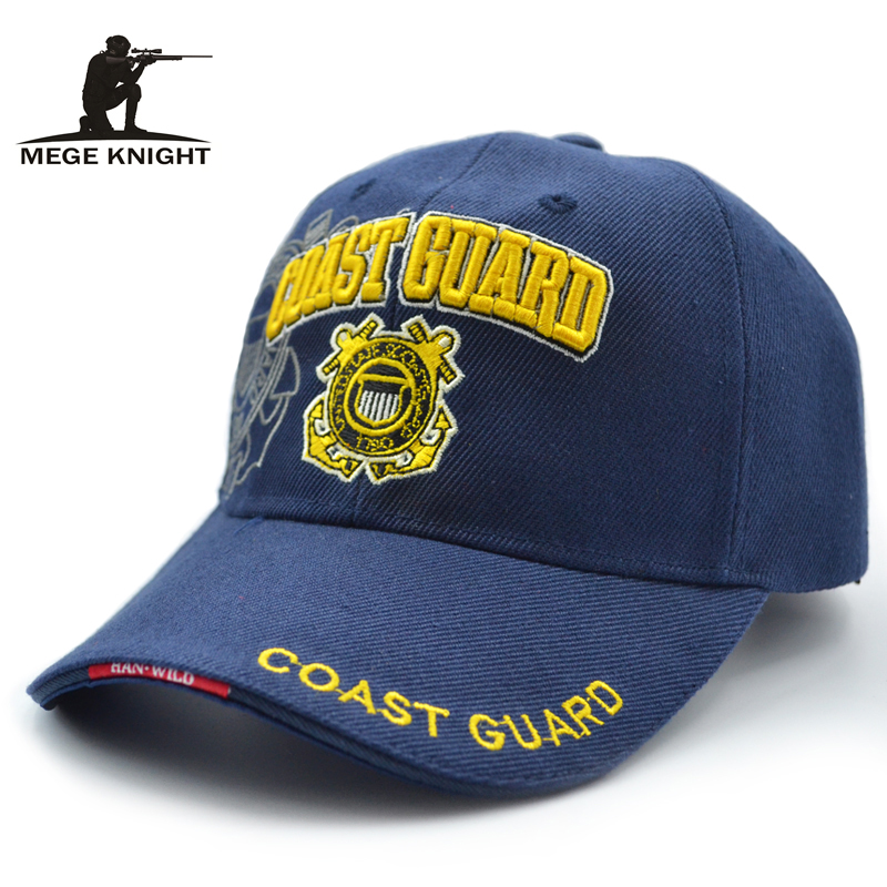 Mege Brand Unisex Fitted Cotton Baseball cap Fashion Design Hip Hop Teenager Cap Men Casual Hat Summer Visor Coast Guard Cap cntang brand summer lace hat cotton baseball cap for women breathable mesh girls snapback hip hop fashion female caps adjustable