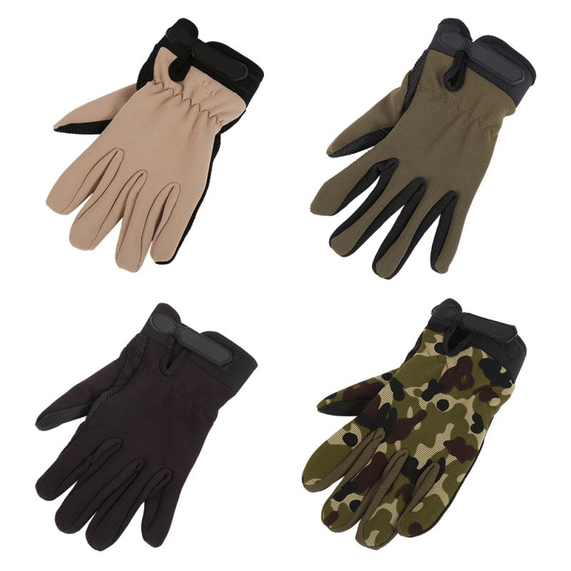 Outdoor Full-Finger Wrap Cycling Sports Gloves Palm Brace Camouflage Supports Racing Gloves