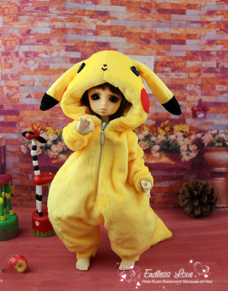 Lovely Animal Pajamas Animal Outfit for BJD Doll 1/6 YOSD Super Dollfie Luts DOD AS DZ Doll Clothes AL4 free match stockings for bjd 1 6 1 4 1 3 sd16 dd sd luts dz as dod doll clothes accessories sk1