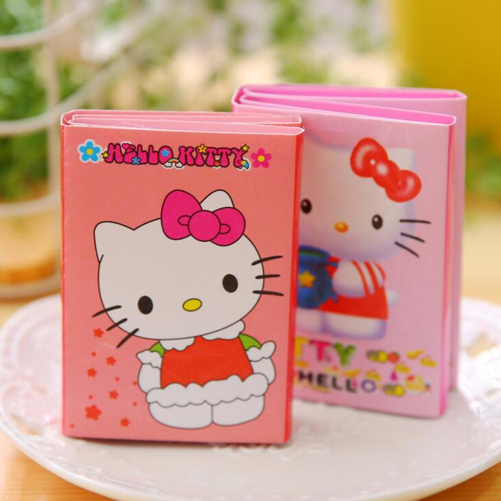 Sweet Pink Hello Kitty Cartoon 6 Folding Memo Pad N Times Sticky Notes Memo Notepad Bookmark Gift Stationery samsung gt c3300i hello kitty pink с рисунком