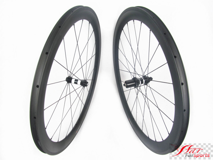 Far sports FSC50-CM-25 DT350 50mm 25mm chinese carbon bicycle wheels 50 mm 25mm, Carbon clincher tubeless design bike wheel 50