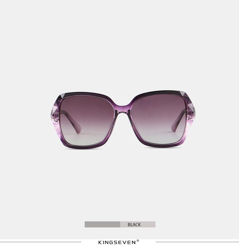 KINGSEVEN Sunglasses Women Gradient Polarized Diamond Frame Sun Glasses For Driving Luxury Lady Shades Eyewear Accessories 7538 7