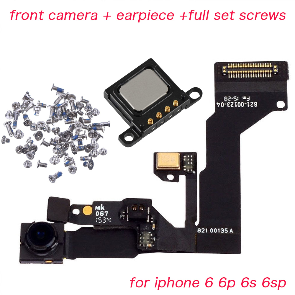 HOUSTMUST 3pcs/set For IPhone 6 6s 6Plus 6s Plus Front Camera Proximity Sensor Flex Cable With Earpiece And Full Set Screws