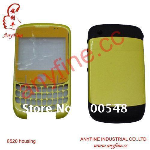 For Curve 8520 Full Housing for Blackberry Curve 8520 Front Panel lens keypad Middle Board Back Door