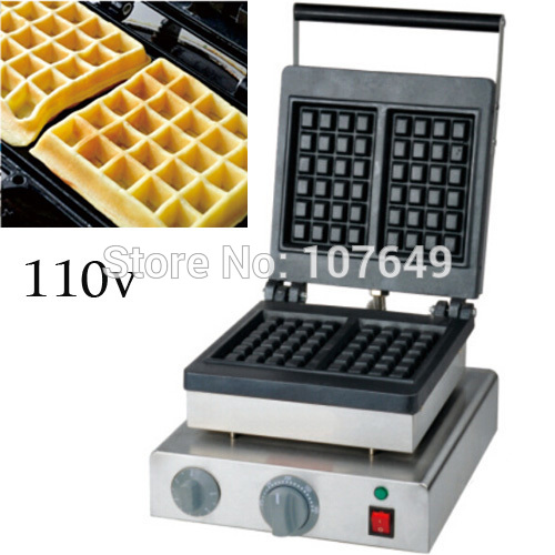 Free Shipping to USA/Canada/Japan/Mexico 110v Electric Commercial Use Non-stick Square Waffle Machine Maker Iron Baker стоимость