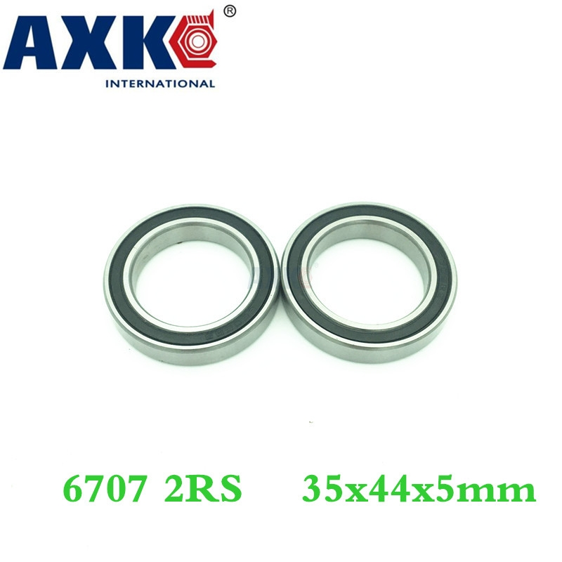 Axk 6707 2rs Bearing (4pcs) 35x44x5 Mm Thin Section 6707-2rs Ball Bearings 61707 Rs <font><b>6707rs</b></font> image