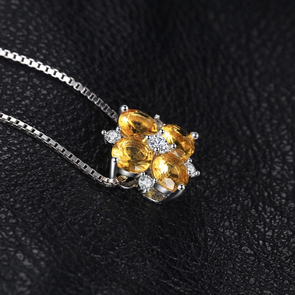 Jewelrypalace цветок 2.2ct создан желтый сапфир Подвески 925 серебро Для женщин Мода Красивые ювелирные изделия не включает цепь