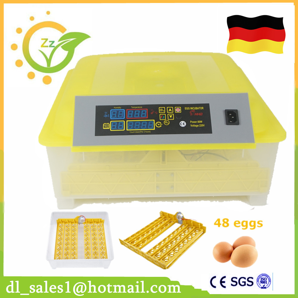 1 Piece Lowest Price Full Automatic Digital Display Poultry Egg Incubator Mini 48 Chicken Eggs Hatching Machine