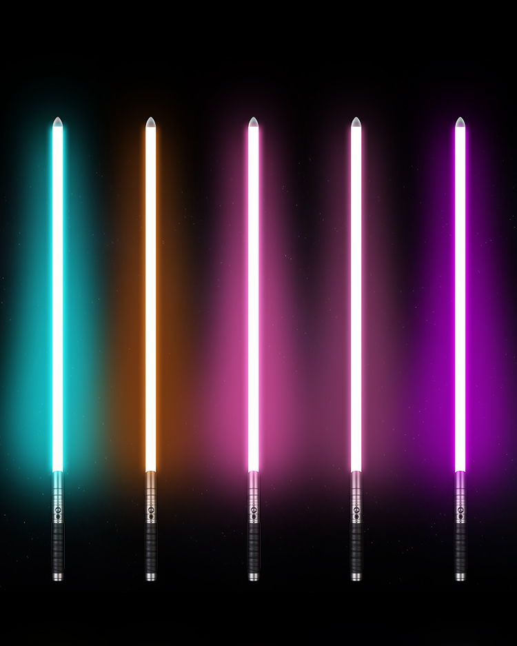 Durable Metal LED Lightsaber with Sound & Vibration 11