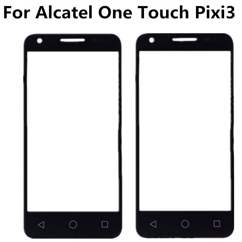 Black For Alcatel One Touch Pixi 3 4.5 4027D 4027X 4027 A5017 5017E VF795 Front Outer Glass Lens Repair Touch Screen Outer Glass-in Mobile Phone Touch Panel from Cellphones & Telecommunications