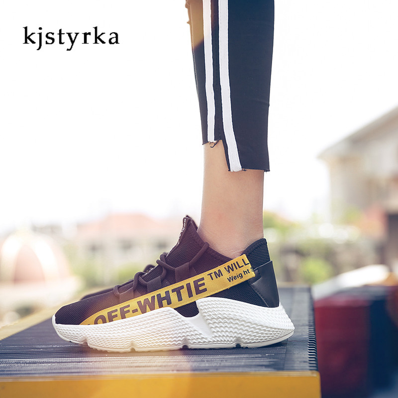 Kjstyrka 2018 tenis masculino adulto women sneakers Ladies flat mesh breathable Woman Platform Casual female shoes women casual shoes zapatillas mujer fashion breathable flat shoes for teenager girls student tenis mesh shoes ladies trainer