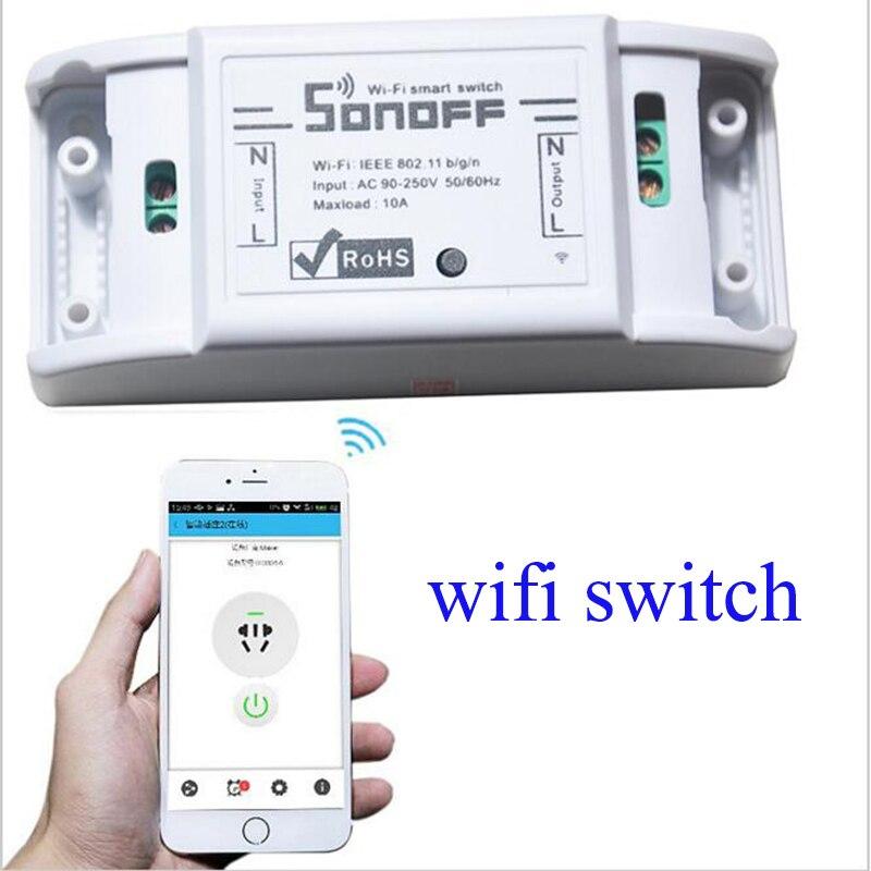 Itead Sonoff básico Wifi interruptor de Control remoto casa inteligente inalámbrico inteligente temporizador interruptor Universal trabajo con Alexa Google nido