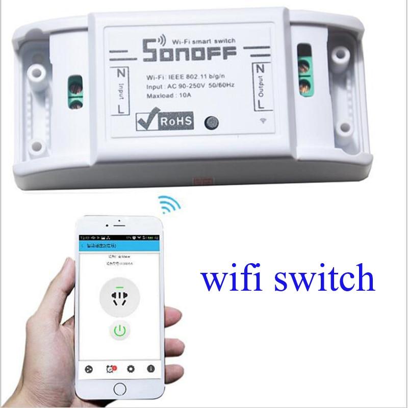 Itead Sonoff di Base Wifi Interruttore di Telecomando Smart Home, Casa Intelligente Intelligente Senza Fili Timer Universale Interruttore Lavora con Alexa Google Nido
