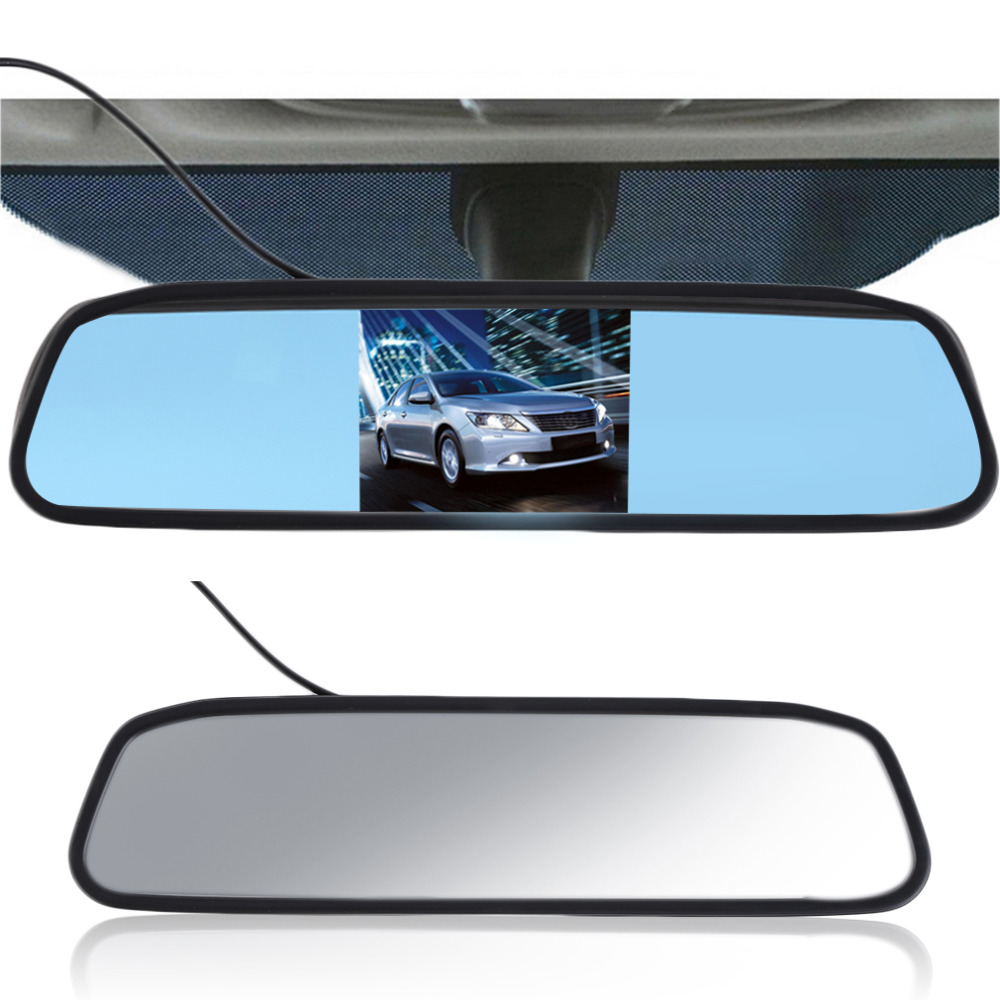 5 Digital TFT LCD Screen Resolution 800480 16:9 Car Monitor Rearview Mirror Security Monitor Auto for Camera DVD VCR