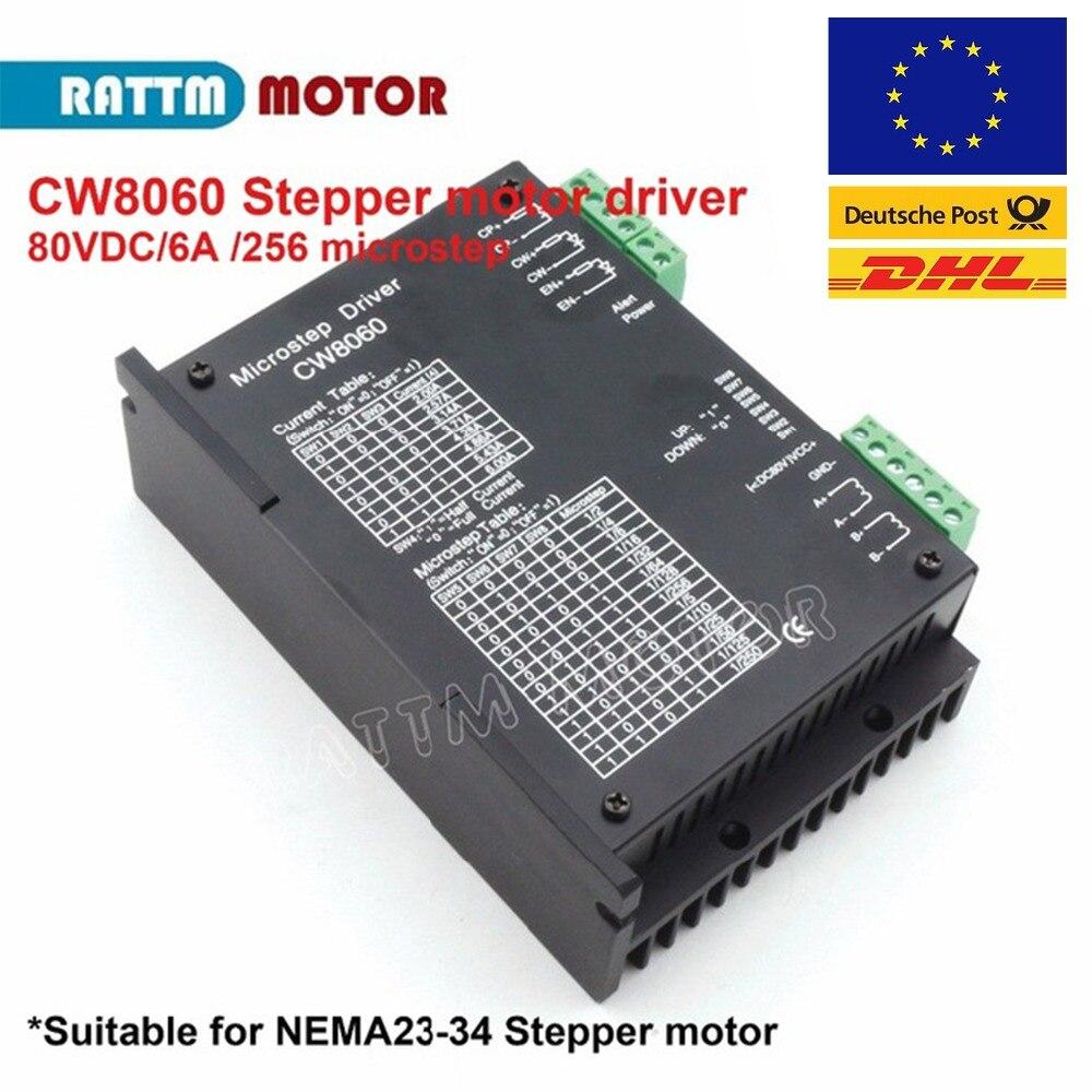 CNC CW8060 Stepper motor driver 80VDC 6A 256 Microstep For Nema23 34 Stepper motor for CNC