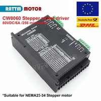 CNC CW8060 Stepper motor driver 80VDC 6A 256 Microstep For Nema23 34 Stepper motor for CNC Router Mill machine
