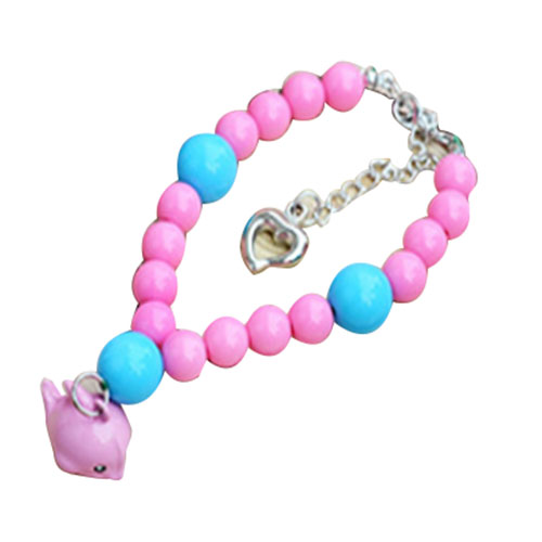 Practical Boutique Coolfield 1 Pink plastic Dog Little Dolphin Bell Necklace Pet Collar XS S M L