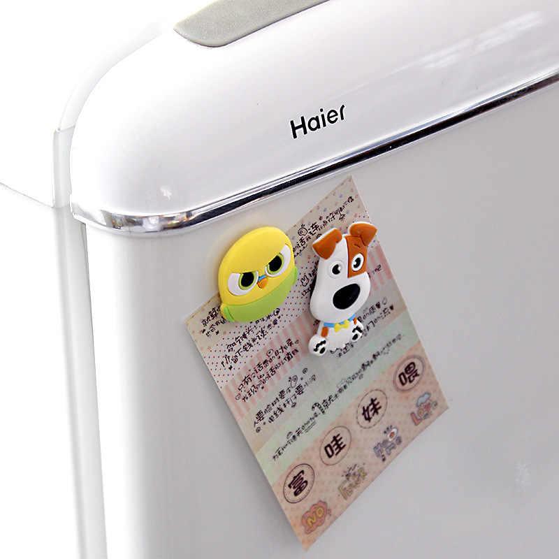 1 шт. Мультяшные креативные Детские каваи животные кошка кролик собака Домашний Декоративный Сувенир маленькие магниты для холодильника стикер TZ083
