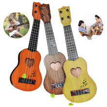 1pcs Mini Children Ukulele Kawaii Guitar Baby Kids Musical Toy Instruments Pretend Play Game Music Interest Development Toy Gift