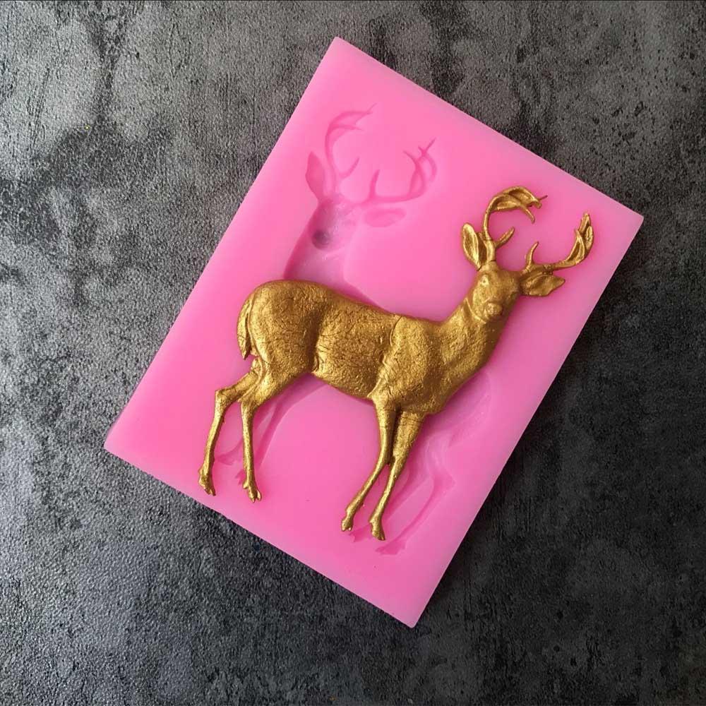 Aouke Рождественский олень украшения печенья Форма Еда Класс силиконовые формы торт Инструменты для тортов B025