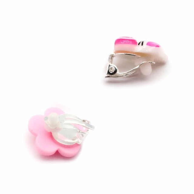 7 Pairs Kids Toddler Little Girls Clip On Earrings Value Set Birthday Party Gift 4