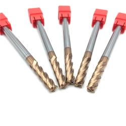 1pc HRC60 12mm standardowy i wydłużyć długie stałe frezy węglikowe 2/4 flet frezowanie krawędzi bocznych rowków profilowanie twarzy młyn wysokiej jakości w Frez od Narzędzia na