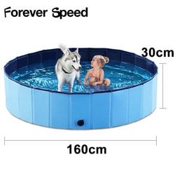 Hund Pool Werkzeug Bad Spritzen Pet Reiniger Dusche Pet Liefert Waschen Für Hunde Haustier Katze Baden Faltbare PVC 160X30CM Teich Pool