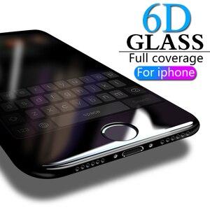 Image 3 - 6D フルカバー強化ガラス 8 7 6 6 s プラス x xs 最大ガラス iphone 7 8 x スクリーンプロテクター保護ガラス iphone 7