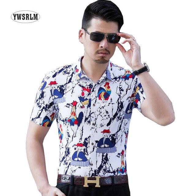 Visualizzza di più. Cazzo Stampa Floreale Camicie Da Uomo In Cotone Fiore  Hawaiano Vestito Shirt Da Uomo Slim Fit 0a6016189b9