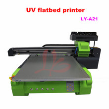 LY A21 UV flatbed Printer max print size 600x600mm print height 150MM 8 colors nozzle Max resolution 1440 DPI 220V 110V compatib