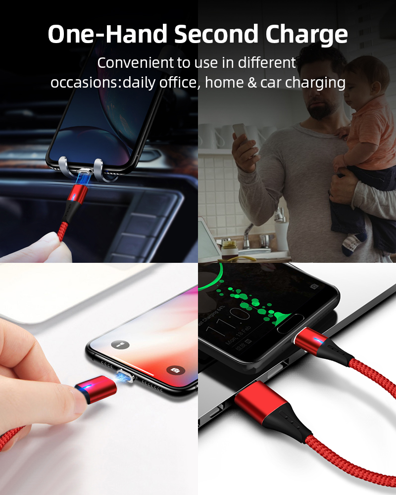 greenport magnetic cable Charger the wire micro usb cable 3 in 1 usb cable 5