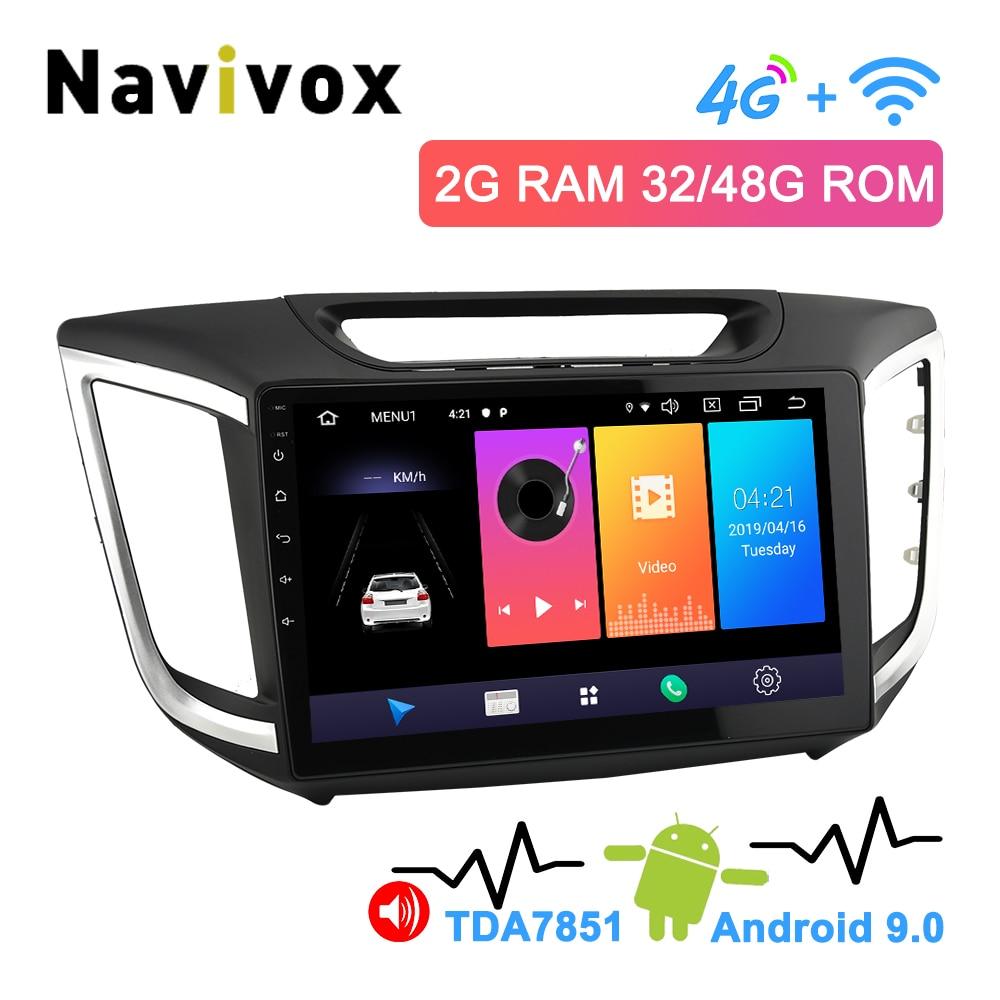 Navivox 10.1 2.5D IPS Screen 2 Din Android 9.0 Hyundai Creta Navigation For Hyundai Creta IX25 2014 2019 Car Multimedia Player