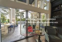Австралийская сертифицированная термальная и акустическая алюминиевая раздвижная дверь, двустворчатая дверь дизайн наружные двери патио