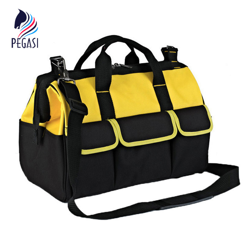 PEGASI 17 High Quality Multifunction Repair Electrician Tool Bag Single Shoulder Oxford Cloth Waterproof Large Capacity 600D multi funtional tool bag waterproof hardware tool bags large double layer capacity oxford cloth electrician toolkit handbags