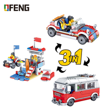 City Camping Outing Travel Car Building Blocks Compatible Friends Bricks Educational Toys Gifts for Children enligthen 1120 city series happy journey truck camping car model building blocks action figure bricks toys for children gifts
