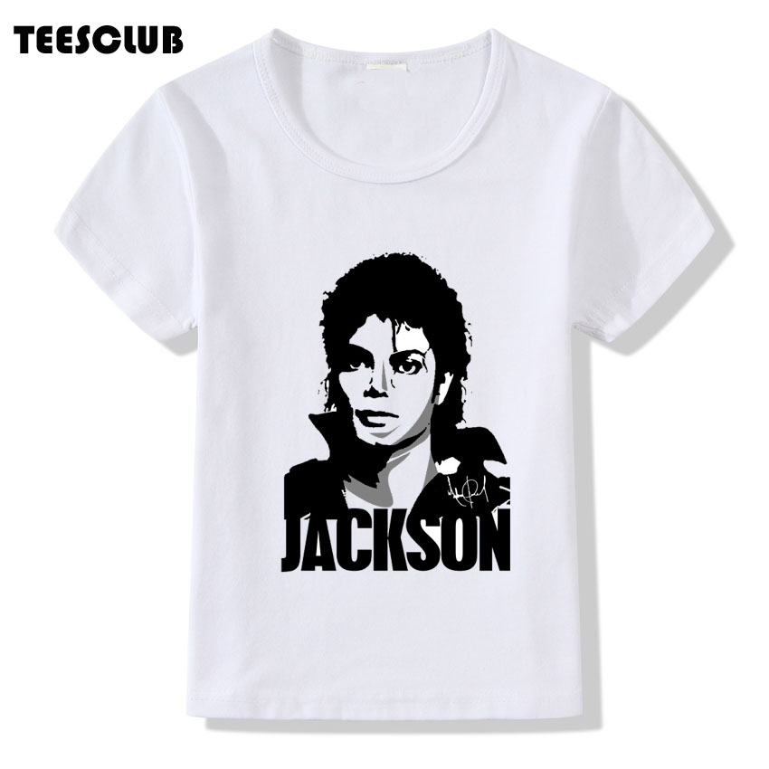 Michael Jackson Printed T shirt Boys Girls Summer Tops Harajuku To Commemorate Michael Short Sleeve Tee Shirt Kids Funny Tshirt bobokateer harajuku white t shirt women tshirt cotton vintage plus size pink female t shirt women tops haut tee shirt femme 2018
